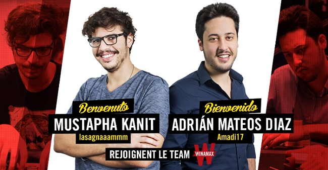 Mustapha Kanit and Adrian Mateos join Team Winamax