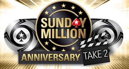 Reminder! Sunday Million 12th Anniversary: Take 2