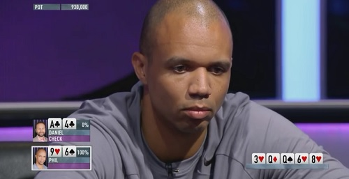 Negreanu vs Ivey Ace-four suited