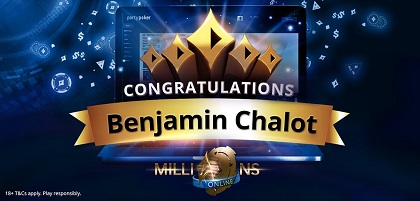 Benjamin 'frenchsniperrr' Chalot wins partypoker 2019 MILLIONS Online for $2.2 million