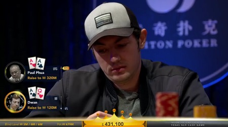 Tom Dwan and Paul Phua play $2.3 million pot
