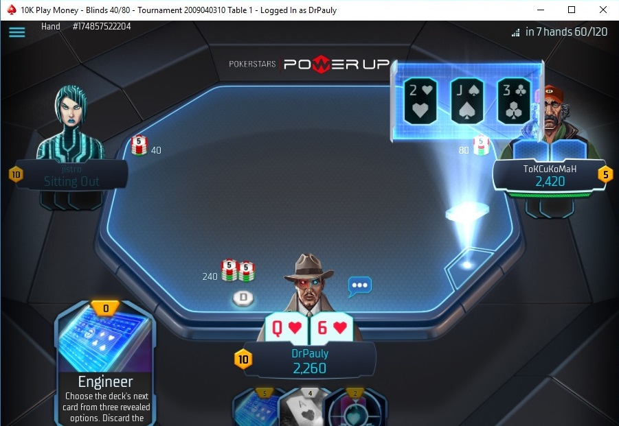 POWER UP available on PokerStars