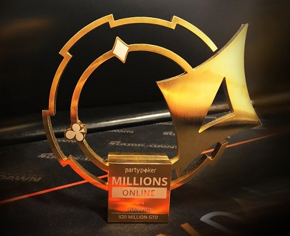 partypoker MILLIONS Online beats $20 million guarantee with 4,367 runners