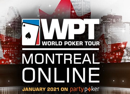 WPT Montreal moved online to partypoker for January 2021