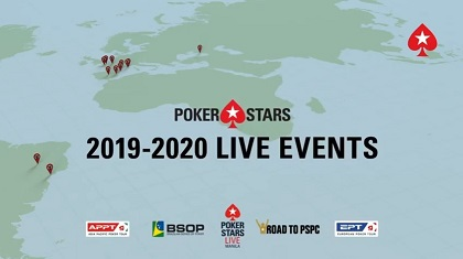 PokerStars releases 2020 live event schedule