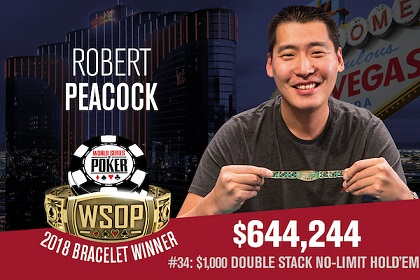 2018 WSOP: Peacock, Baldwin, Lee, and Bohlman win bracelets