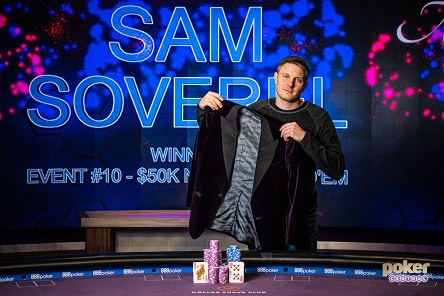 Sam Soverel wins 2019 Poker Masters $50K Main Event and Purple Jacket