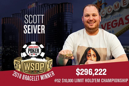 2018 WSOP: Scott Seiver and Tommy Nguyen win bracelets