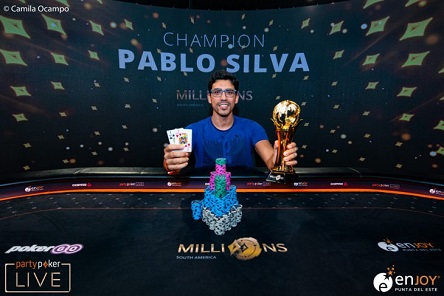 Pablo Silva wins the 2020 partypoker MILLIONS South America