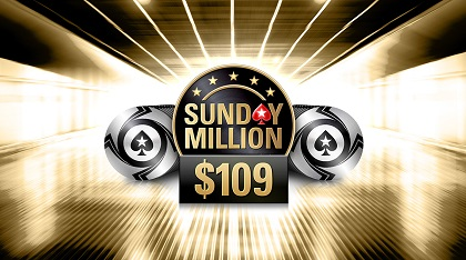 PokerStars drops Sunday Million buy-in to $109