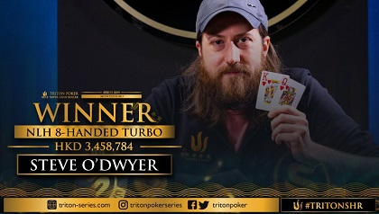 Steve O'Dwyer wins another high roller at Triton Poker High Roller Series Montenegro