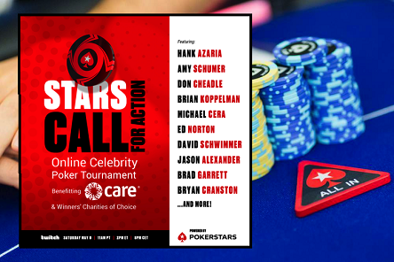 Stars CALL for Action celebrity poker tournament with Don Draper and Costanza