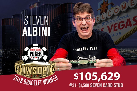 2018 WSOP: Nirvana record producer Steve Albini wins bracelet