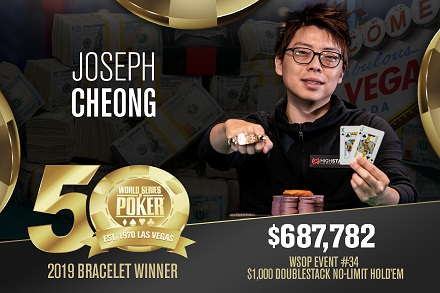 2019 WSOP: Joe Cheong ships Doublestack and Robert Mitchell wins Deepstack bling