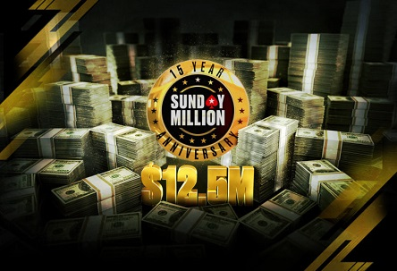 Sunday Million turns 15, anniversary event has $12.5 million guaranteed