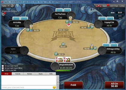 PokerStars introduces Deep Water Hold'em and Tempest Hold'em