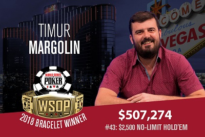 2018 WSOP: Timur Margolin wins first bracelet