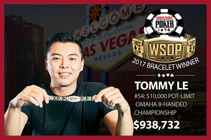 2017 WSOP: Tommy Le and Smith Sirisakorn win bracelets