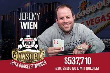 2018 WSOP: Philip Long and Jeremy Wien win bracelets