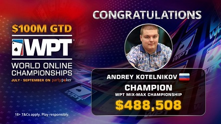 Ajay 'Ross_Geller' Chabra wins first WSOP bracelet, Andrey Kotelnikov binks WPT World Online Mix-Max