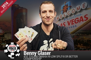 WSOP: Back-to-Back Benny! Benny Glasser joins double bracelet club with $10K Omaha Championship win