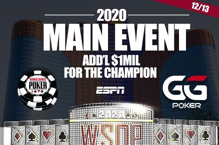 2020 World Series of Poker Hybrid Main Event played at WSOP.com and GGPoker