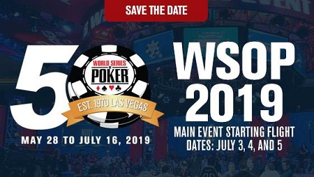 2019 WSOP dates and partial schedule released