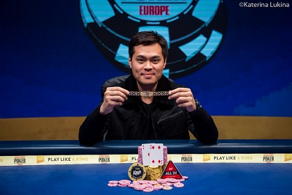 2019 WSOP Europe: James Chen wins €250,000 Super High Roller