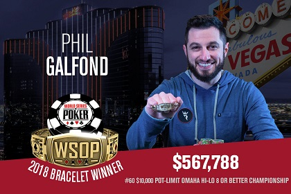 2018 WSOP: Phil Galfond wins third bracelet