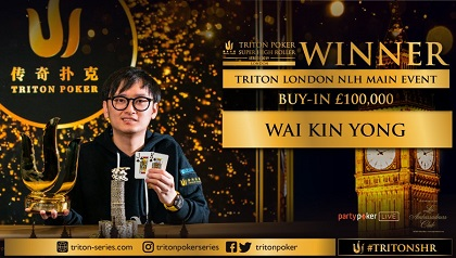 Wai Kin Yong wins Triton Series £100,000 NL Main Event in London