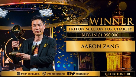 Aaron Zang wins Triton Million for Charity in London